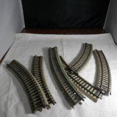 Trenes Escala: LOTE VIAS CURVAS ESCALA HO DE MARKLIN. Lote 265576189