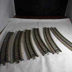 Trenes Escala: LOTE VIAS CURVAS ESCALA HO DE MARKLIN. Lote 265576234