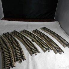 Trenes Escala: LOTE VIAS CURVAS ESCALA HO DE MARKLIN. Lote 265576294