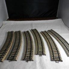 Trenes Escala: LOTE VIAS CURVAS ESCALA HO DE MARKLIN. Lote 265576349