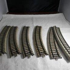 Trenes Escala: LOTE VIAS CURVAS ESCALA HO DE MARKLIN. Lote 265576384