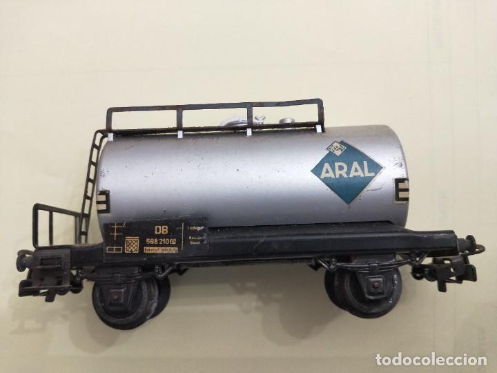 MARKLIN -REF 4500. VAGÓN CISTERNA ARAL DE LA DB. (Juguetes - Trenes a Escala - Marklin H0)