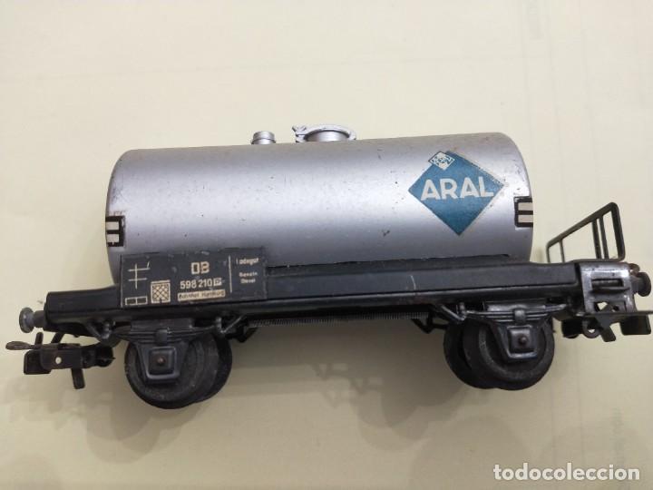 Trenes Escala: Marklin -REF 4500. Vagón cisterna ARAL de la DB. - Foto 2 - 266269398