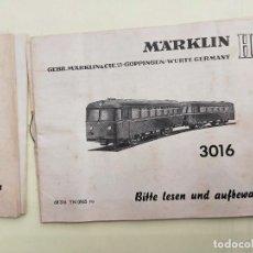 Trenes Escala: MARKLIN HO 3016. CATALOGO - MANUAL - INSTRUCCIONES ORIGINALES LOCOMOTORA. Lote 266551753