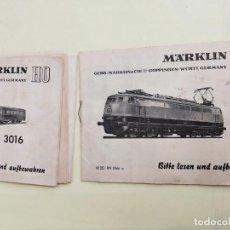 Trenes Escala: MARKLIN HO 3053. CATALOGO - MANUAL - INSTRUCCIONES ORIGINALES LOCOMOTORA. Lote 266554043
