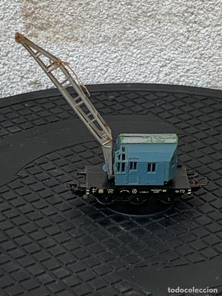 GRUA VAGON TREN MADE IN GERMANY KRANWAGEN MARKLIN ESCALA HO 14X9CMS (Juguetes - Trenes a Escala - Marklin H0)