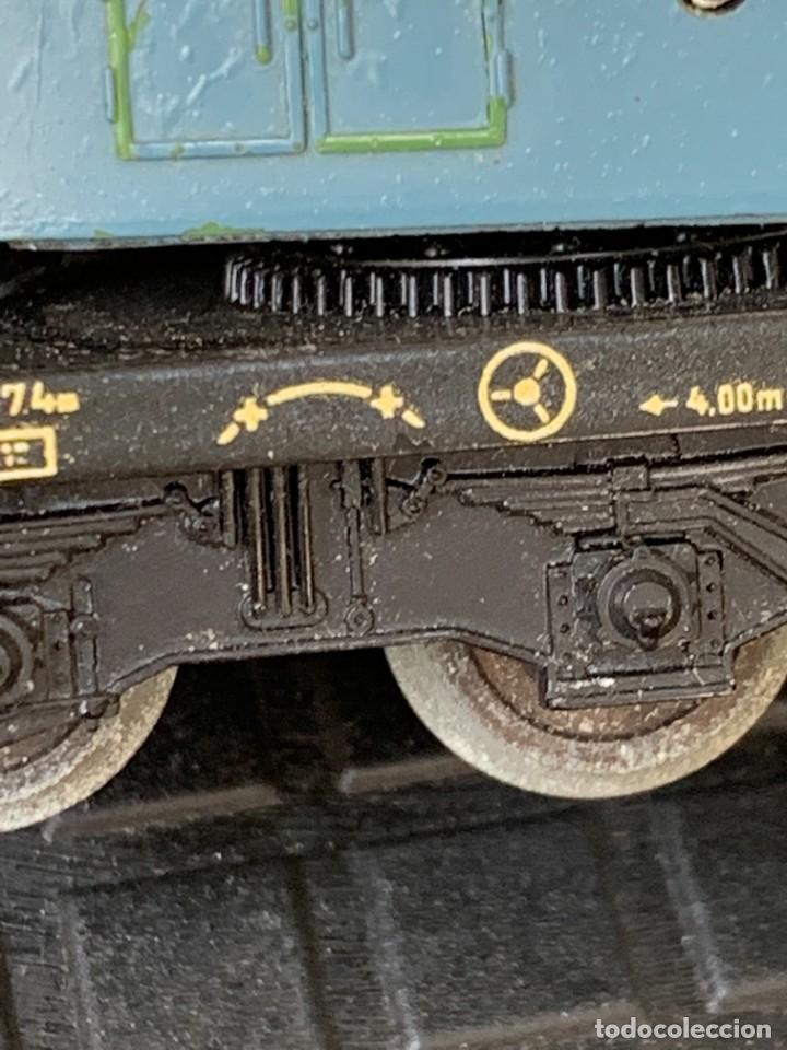 Trenes Escala: GRUA VAGON TREN MADE IN GERMANY KRANWAGEN MARKLIN ESCALA HO 14X9CMS - Foto 8 - 269101108