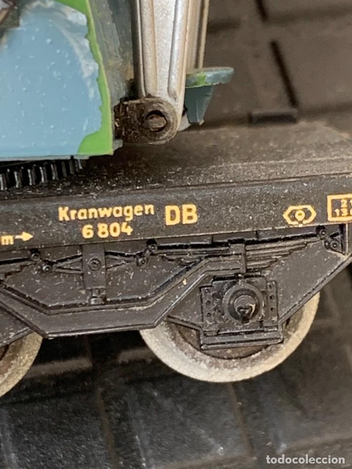 Trenes Escala: GRUA VAGON TREN MADE IN GERMANY KRANWAGEN MARKLIN ESCALA HO 14X9CMS - Foto 9 - 269101108