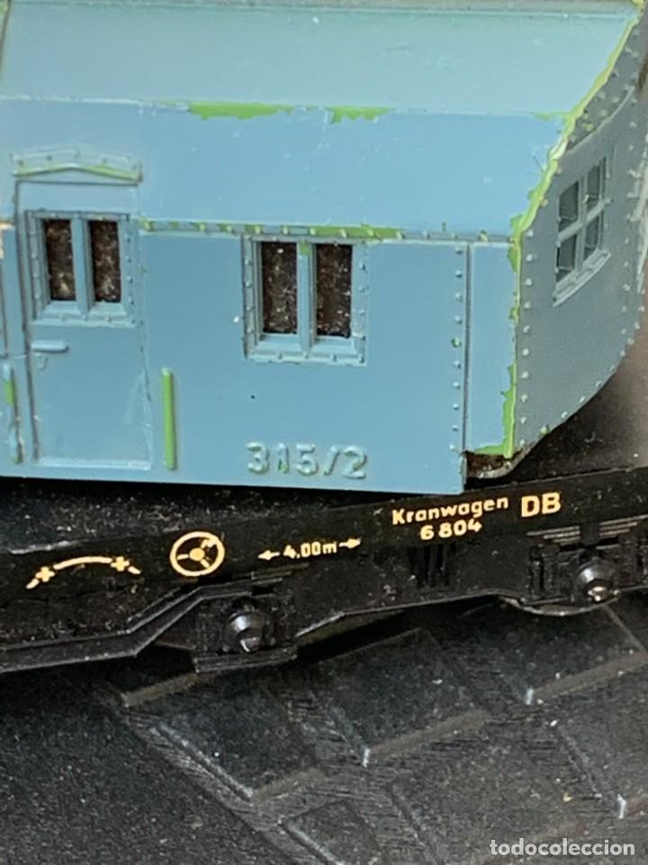 Trenes Escala: GRUA VAGON TREN MADE IN GERMANY KRANWAGEN MARKLIN ESCALA HO 14X9CMS - Foto 15 - 269101108