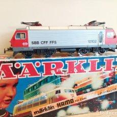 Trenes Escala: MARKLIN H0 HAMO LOCOMOTORA ELÉCTRICA RE 4/4 10102, DE LA SBB CFF FFS, REFERENCIA 8323 DC CTE CONT. Lote 270148248
