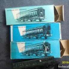 Trenes Escala: 3 VAGONES MARKLIN H0. Lote 270225833