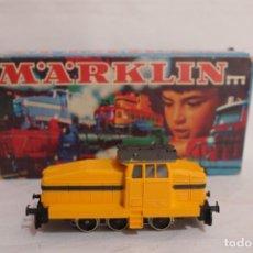 Trenes Escala: MARKLIN LOCOMOTORA EN CAJA REF.3080 COLOR AMARILLO RARO DE VER COMO NUEVA,FUNCIONA. Lote 274924438