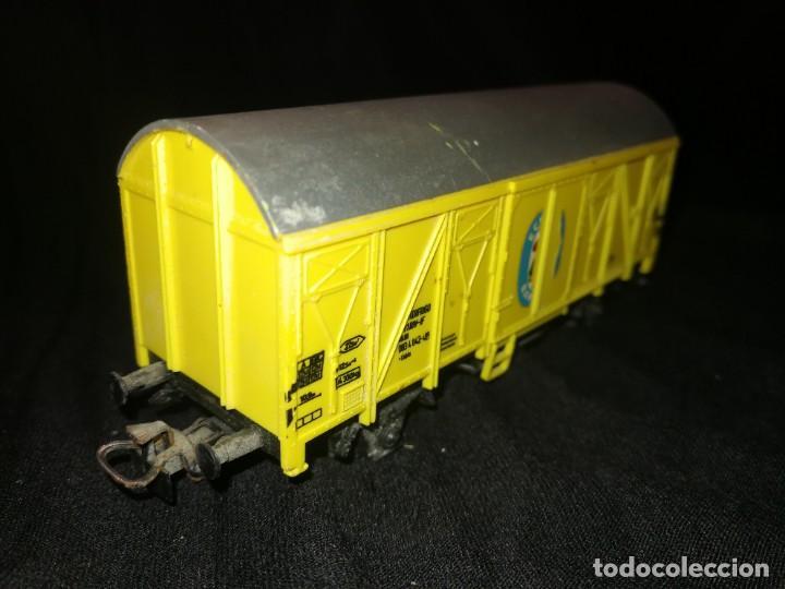Trenes Escala: MARKLIN, Vagon FRIGORÍFICO cerrado, BANANAS ECUADOR, REF 4414,escala H0. - Foto 2 - 275167943