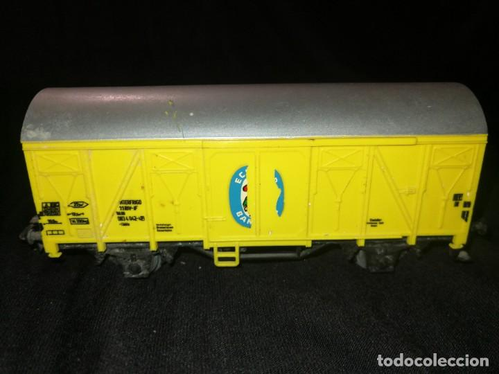 Trenes Escala: MARKLIN, Vagon FRIGORÍFICO cerrado, BANANAS ECUADOR, REF 4414,escala H0. - Foto 3 - 275167943