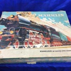 Trenes Escala: ANTIGUA CAJA COMPLETA CON TREN MARKLIN MUY RARO. Lote 276615093