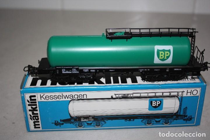 ANTIGUO A ESTRENAR VAGÓN BP DE MARKLIN. (Juguetes - Trenes a Escala - Marklin H0)