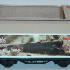 Trenes Escala: MÄRKLIN HO, VAGÓN EXCELENTE REF. 4481 CON CONTENEDOR, SERIE EXCLUSIVA AÑO 1996. Lote 277562078