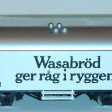 """Trenes Escala: MÄRKLIN HO, VAGÓN FRIGORÍFICO """"WASABRÖD"""" REF. 4566 CON CAJA. Lote 277563478"""