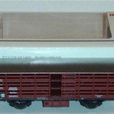 Trenes Escala: MÄRKLIN HO, VAGÓN CERRADO TRANSPORTE DE GANADO DRG REF. 46161 CON CAJA, NUEVO. Lote 277565178