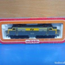 Trenes Escala: ESPECTACULAR LOCOMOTORA ELECTRICA TREN MARKLIN H0 REF 3168 SERIE 1200 EN CAJA ORIGINAL. Lote 278961923