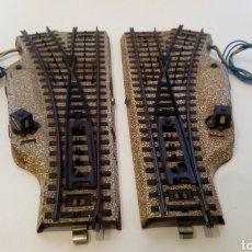 Trenes Escala: JIFFY VENDE PAREJA DE DESVÍOS MARKLIN 5202 CON DESVÍOS 5203 Y 5204. VÍA M H0. LOTE ULJ011. Lote 279410853