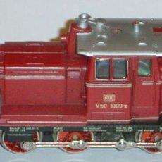 Trenes Escala: MARKLIN HO, LOCOMOTORA DIESEL V60 1009 DB REF. 3065 CON TELEX, DIGITAL 5 POLOS. Lote 279505083