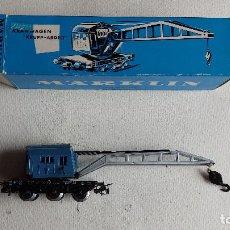 Trenes Escala: U-89.- VAGON -GRUA.- - MARKLIN -- H0- 4611.- PERFECTO ESTADO Y CON SU CAJA ORIGINAL , VER FOTOS. Lote 279509828