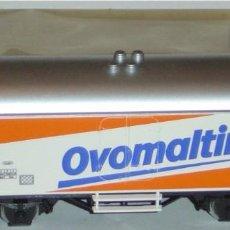 """Trenes Escala: MÄRKLIN HO, VAGÓN FRIGORÍFICO EXCELENTE CFF """"OVOMALTINE"""" REF. 4428 CON CAJA. Lote 283382848"""