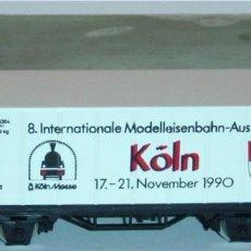 Trenes Escala: MÄRKLIN HO, VAGÓN EXCELENTE CON CONTENEDOR REF. 4481, SERIE EXCLUSIVA AÑO 1990. Lote 283384178