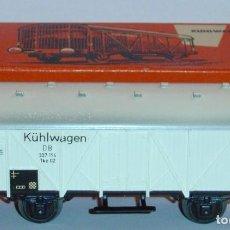 Trenes Escala: MÄRKLIN HO, VAGÓN FRIGORÍFICO DB REF. 4508, CON CAJA. Lote 283384908