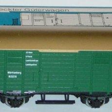 Trenes Escala: MÄRKLIN HO, VAGÓN CERRADO EXCELENTE REF. 4685, CON CAJA. Lote 283386153