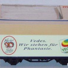 """Trenes Escala: MÄRKLIN HO, VAGÓN REF. 84408 CON CONTENEDOR """"VEDES"""", SERIE EXCLUSIVA. Lote 283386613"""