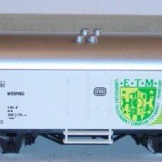 """Trenes Escala: MÄRKLIN HO, VAGÓN FRIGORÍFICO """"ETM 1981"""" DB REF. 4415, CON CAJA. Lote 283386803"""