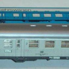Trenes Escala: MARKLIN HO, COCHE 2ª CLASE REF. 4077, LUCES BLANCAS/ROJAS E ILUMINACIÓN INTERIOR. Lote 283636448