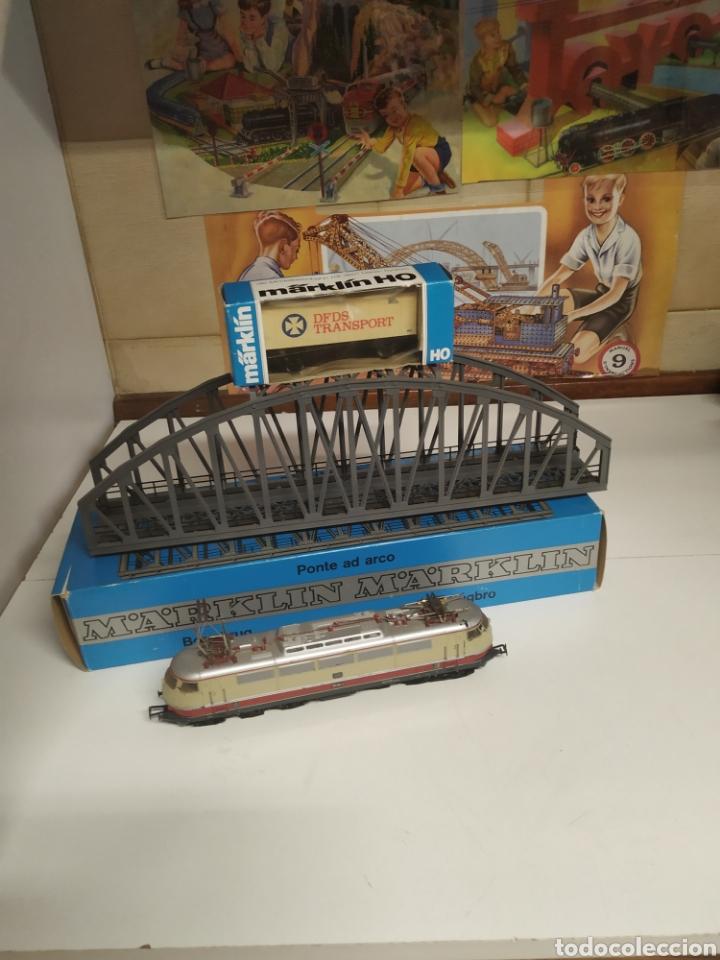 Trenes Escala: Lote marklin locomotora , vagón y puente - Foto 12 - 285460983