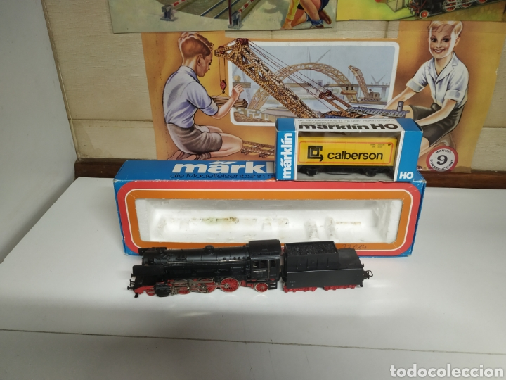CARBONERA MARKLIN 3005 CON UN VAGÓN (Juguetes - Trenes a Escala - Marklin H0)