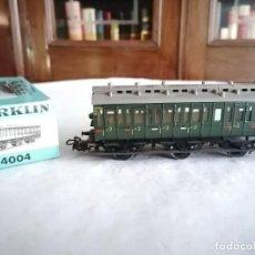 Trenes Escala: MÄRKLIN H0 4004 VAGÓN DE PASAJEROS DE 2ª CLASE DB ALEMÁN OVP. Lote 287316703