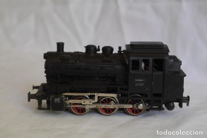 Trenes Escala: Locomotora de vapor Marklin 89005 + vagón deposito BP, H0 - Foto 2 - 287992258