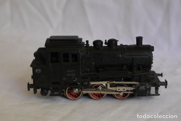 Trenes Escala: Locomotora de vapor Marklin 89005 + vagón deposito BP, H0 - Foto 4 - 287992258