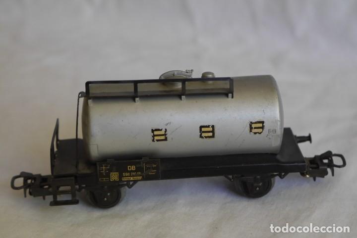 Trenes Escala: Locomotora de vapor Marklin 89005 + vagón deposito BP, H0 - Foto 11 - 287992258