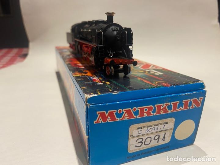 Trenes Escala: Locomotora a vapor Marklin. Original. H0. Digital - Foto 2 - 289623478