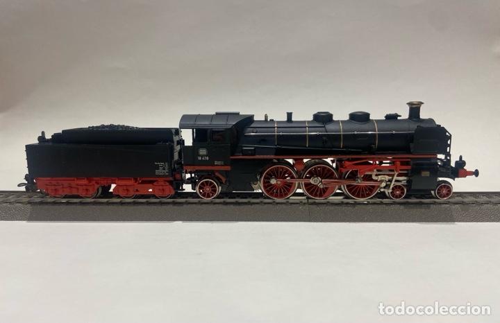 Trenes Escala: Locomotora a vapor Marklin. Original. H0. Digital - Foto 3 - 289623478