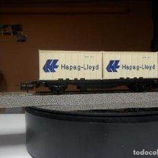 Trenes Escala: VAGÓN PORTACONTENEDOR ESCALA HO DE MARKLIN. Lote 289853228