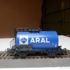 Trenes Escala: VAGÓN CISTERNA ARAL ESCALA HO DE MARKLIN. Lote 290093263