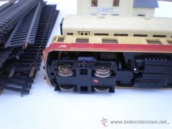 Trenes Escala: tren a escala N-17 con locomotora , vagon, estacion - Foto 2 - 10912337