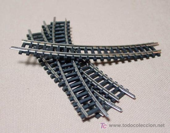 Trenes Escala: LOTE 4 VIAS CURVAS LARGAS, TRIX, ESC N, WEST GERMANY - Foto 1 - 18379396