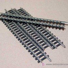 Trenes Escala: LOTE 4 VIAS RECTAS LARGAS, TRIX, ESC N, WEST GERMANY. Lote 18379405
