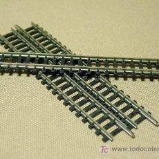 Trenes Escala: LOTE 3 VIAS CURVAS LARGAS, TRIX, ESC N, WEST GERMANY. Lote 18379437