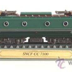Trenes Escala: LOCOMOTORA ESTATICA DELPRADO. SNCF CC 7100. FRANCE . ESCALA N. 1:160.. Lote 27251988
