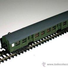 Trenes Escala: VAGÓN COCHE PASAJEROS 2ª CLASE, SNCF REF. 3024, TRIX MINITRIX ESC. N, ORIGINAL AÑOS 70-80.. Lote 43594985